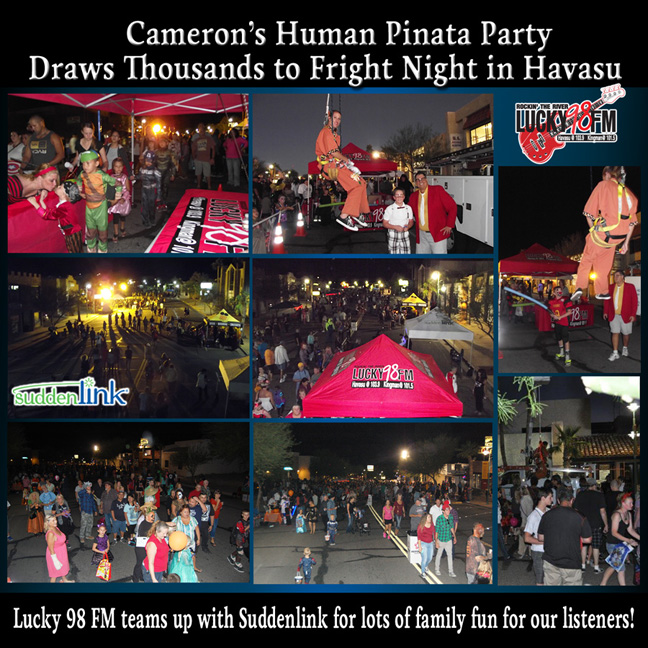 Trick or Treat @ Fright Night Lake Havasu City Lucky 98 FM Human Pinata