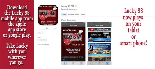 Download the Lucky 98 mobile app